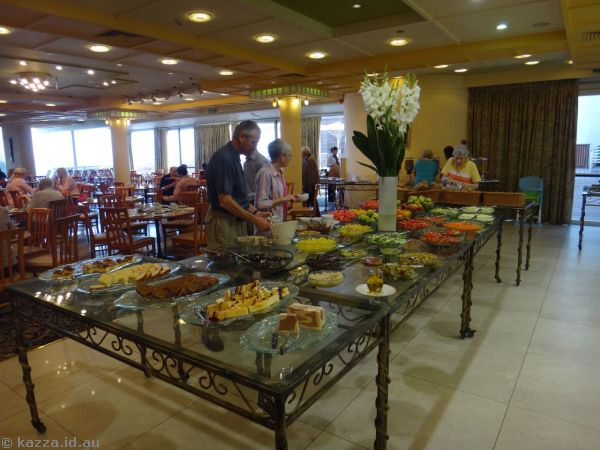 Some of the breakfast buffet - so much awesome fresh food!