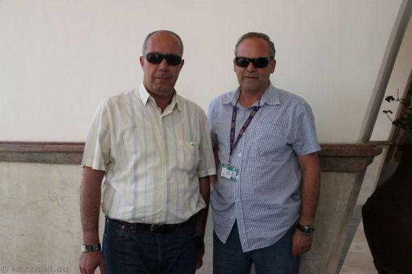 Our coach captain (Osama) and tour guide (Ronen)