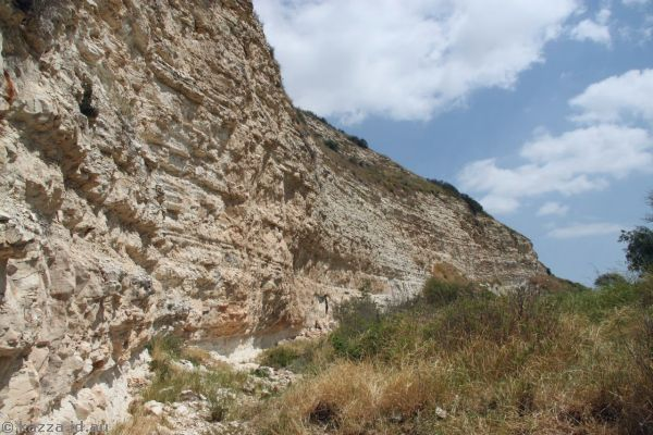 Cliffs near possible location of David and Goliath