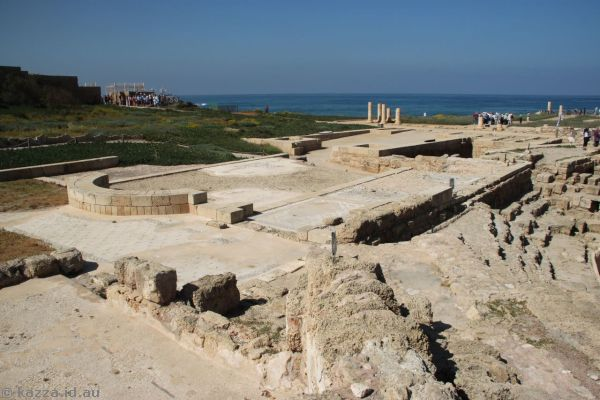Part of the palace at Caesarea Maritima