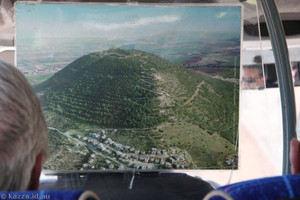 Photo of Mount Tabor in the minibus