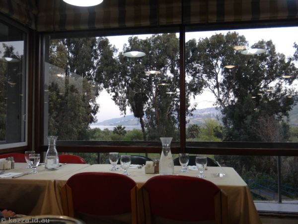 View from the dining room towards Tiberias