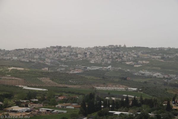 Looking towards Nazareth from the fortress