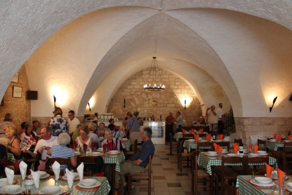 Inside the Holy Land Restaurant where we had lunch<br>Photo by Dad