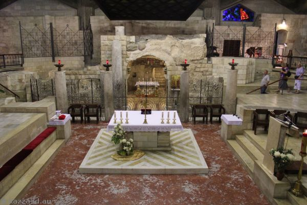 Inside the Basilica of The Annunciation<br>Photo by Dad