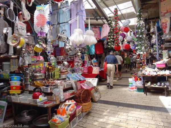 Walking through street markets in Nazareth