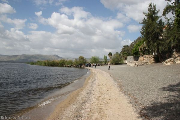 Beach on the Sea of Galilee - Jesus probably walked on this beach at some point!