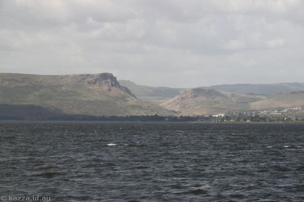 Mount Arbel and western side of the sea