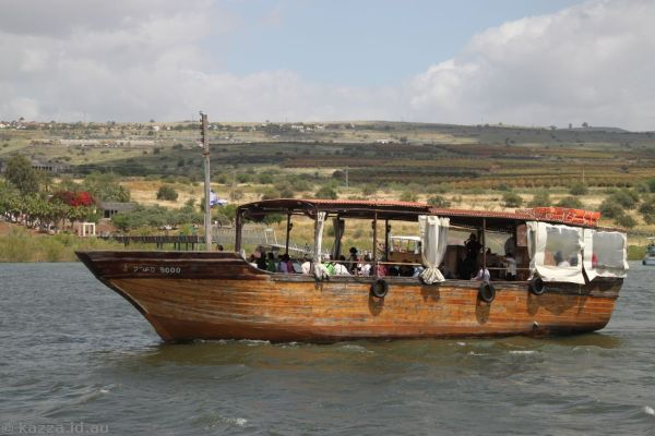 Another tour boat on the Sea of Galilee