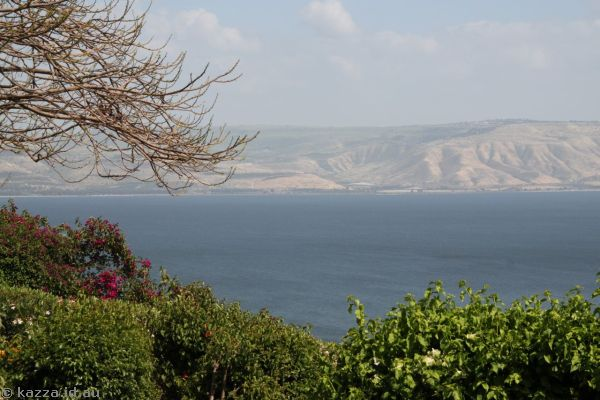 Looking across to Jordan from the Church of the Beatitudes