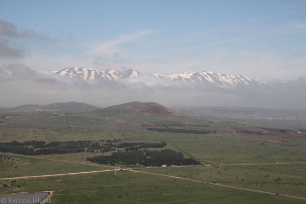 Looking north towards Mount Hermon