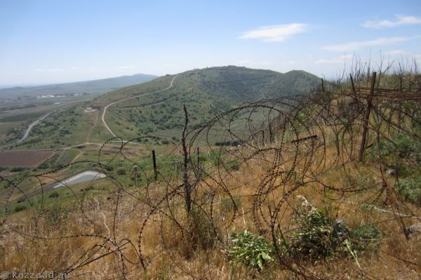 Barbed wire on Mount Bental<br>Photo by Mum