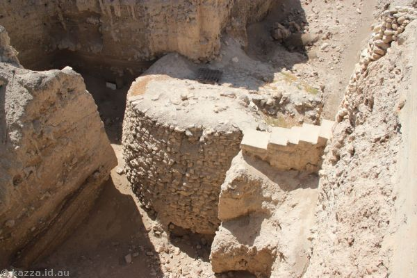 Ancient tower in Jericho - one of the oldest man-made structures in existence