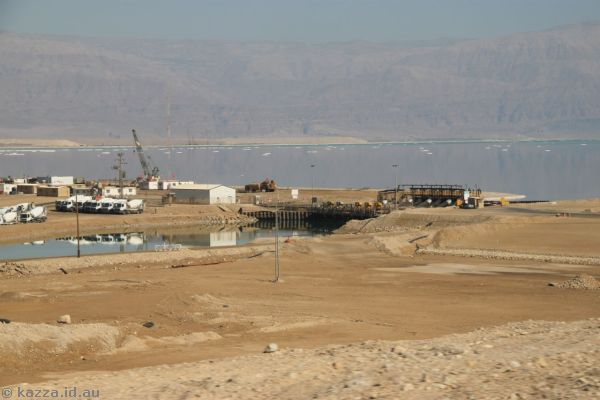 Canal entrance to the southern Dead Sea