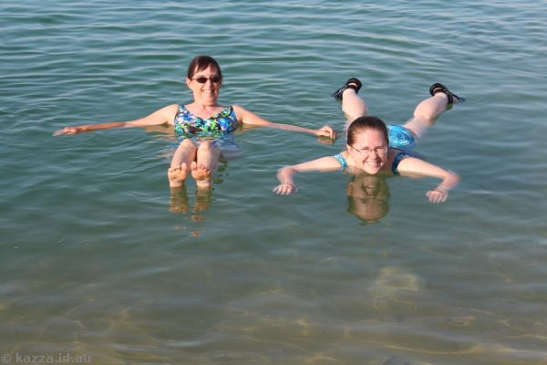 Floating in the Dead Sea<br>Photo by Dad