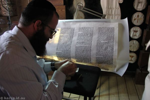 Dude writing the torah, wrote a blessing for Bruce