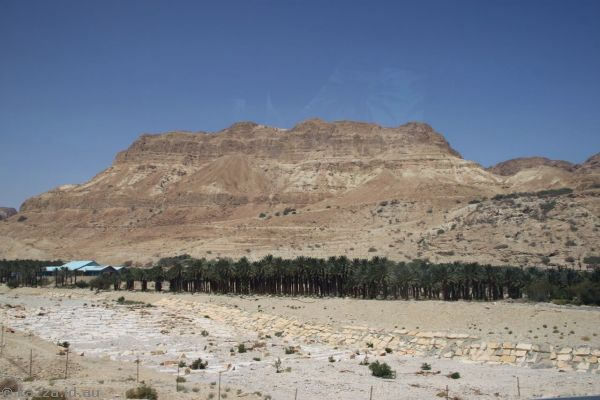 Hills on the west side of the Dead Sea