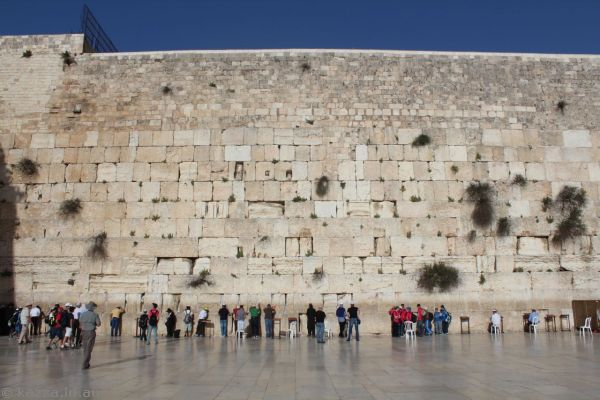 The Wailing Wall<br>Photo by Dad
