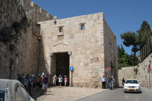 Inside of the Zion Gate