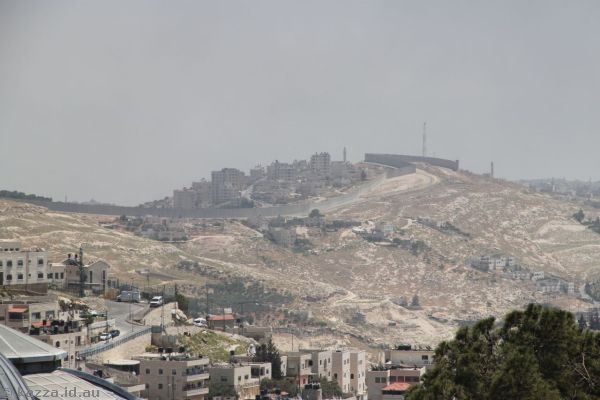 Looking across to Palestinian territory