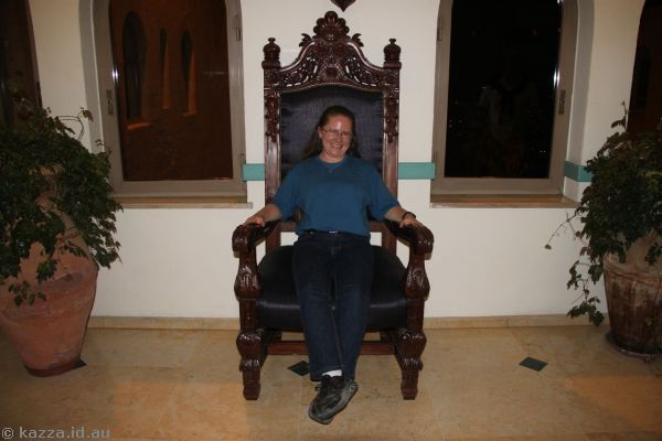 Me in a very big chair