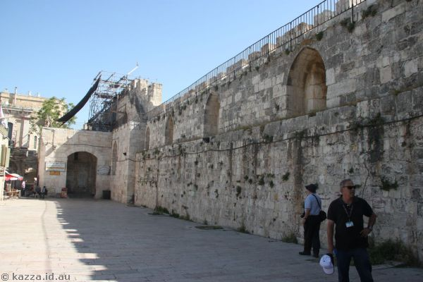 Just outside the walls of the Temple Mount
