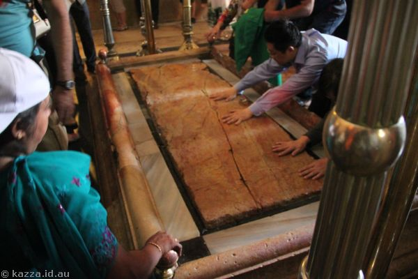 Supposedly where Jesus body was treated after his crucifixion