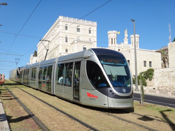 Tram just outside the city walls