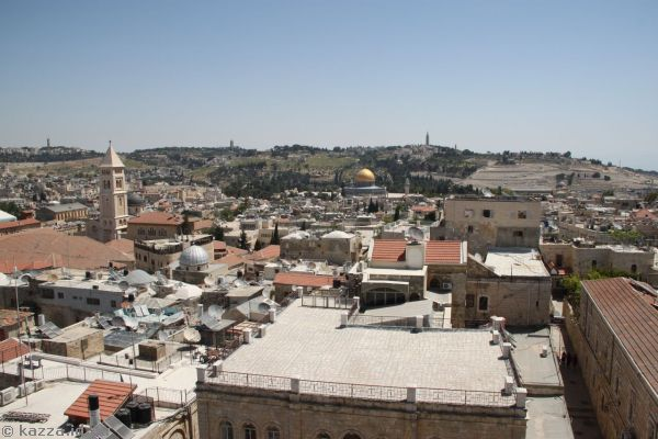 View towards the Temple Mount from the Phaseal tower