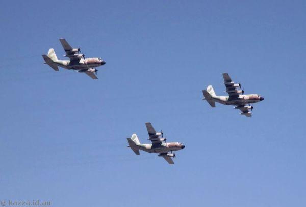C-130 Hercules flyby