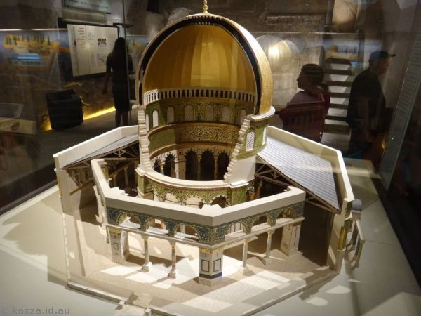 The Dome of the Rock - a cutaway model
