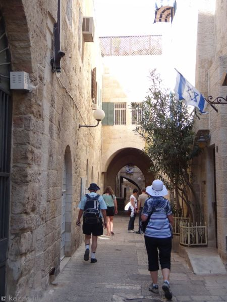 Walking through the old streets of Jerusalem