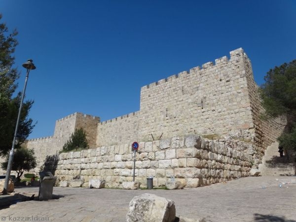 South-west corner of the city walls