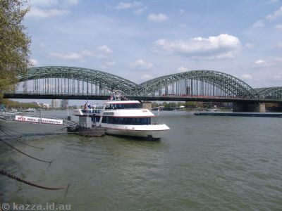 Railway bridge over the Rhine.  This bridge was destroyed during the war