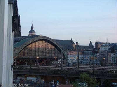You could see the cathedral and Hauptbahnhof from our hotel room - if you hung all the way out!