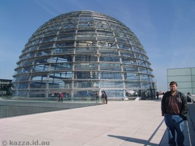 Glass dome on top of the Reichstag