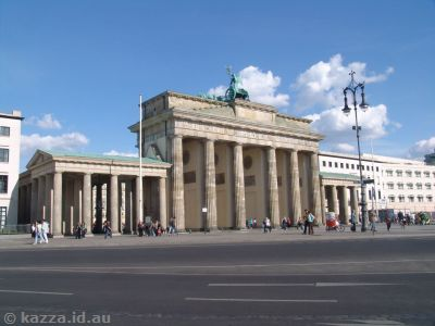 Brandenburg Gate - from the western side