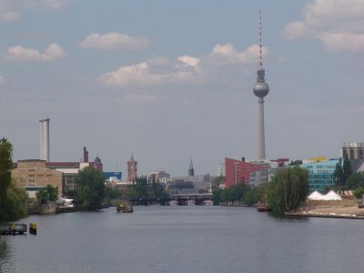 Spree River and Fernsehturm from Oberbaumbrücke