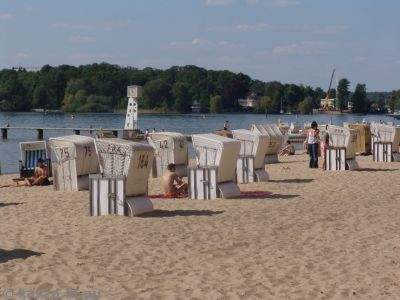Shade houses at Wannsee