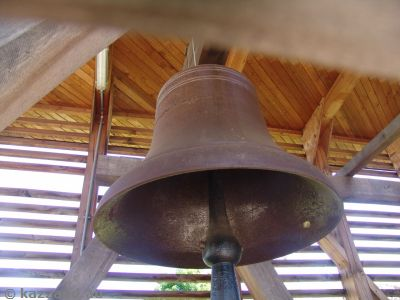 One of the three bells they recovered before demolishing the church
