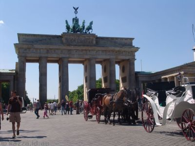 Horses and Carriages at the Brandenburg Gate