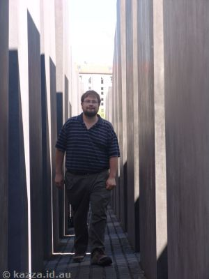 Stu in the Memorial to the Murdered Jews of Europe