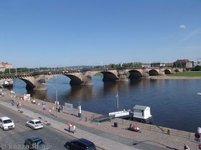 Augustusbrücke, on the site of the oldest bridge in Dresden