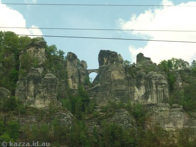 Part of the Bastei Bridge in the Bastei rocks near Oberrathen