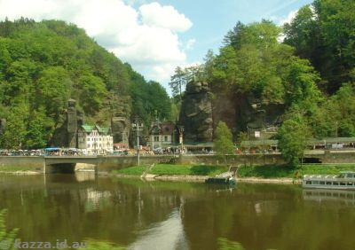 Every time a small river joins a larger one, you get a cute little village.  In this case Hřensko, on the confluence of Kamenice and Labe (Elbe) rivers