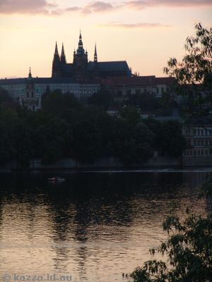 Prague Castle over the Vltava River