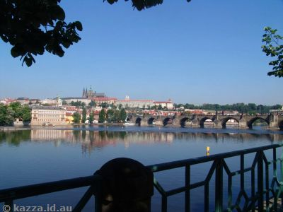 Vltava River and Charles Bridge (named for Holy Roman Emperor Charles IV)
