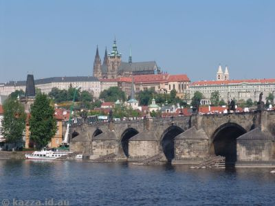 Prague Castle over the famous Charles Bridge