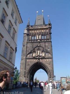Old Town Bridge Tower on the eastern end of the Charles Bridge