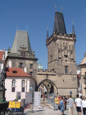 Bridge tower on the western end of the Charles Bridge